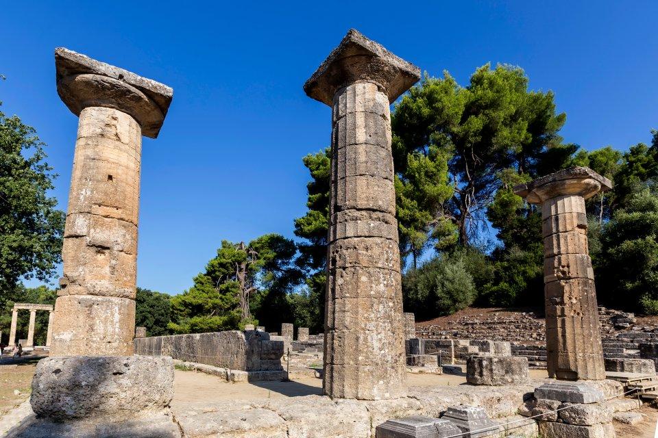 Le site d'Olympie, Les monuments, Péloponnèse