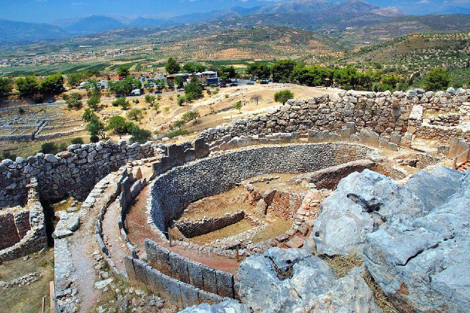 Mycènes , Le palais mycénien , Grèce