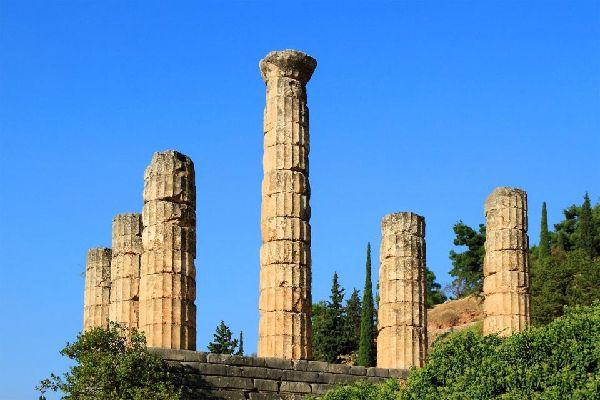 Delphi , The Delphi Rotunda , Greece