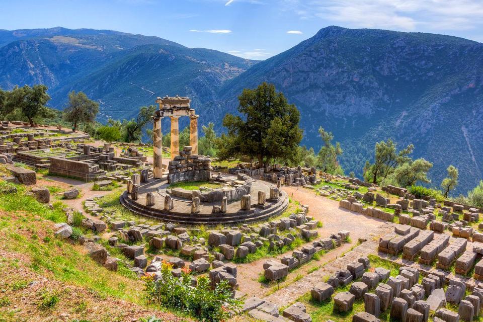 Delphi , Die Entstehung Delphis , Griechenland