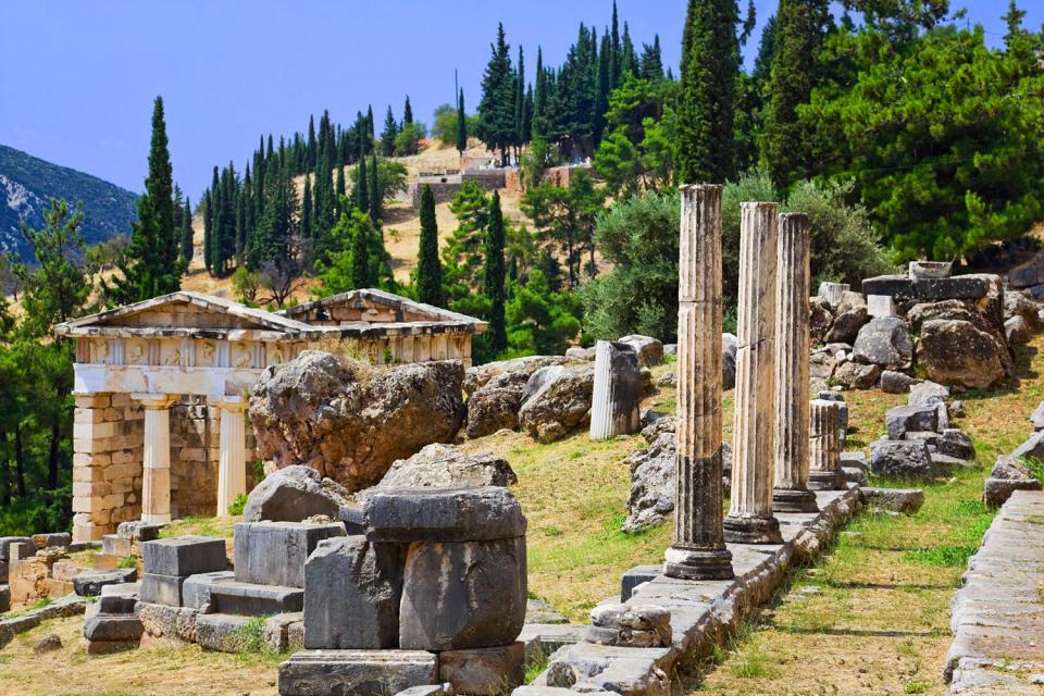 Delphi , Tholos von Delphi , Griechenland