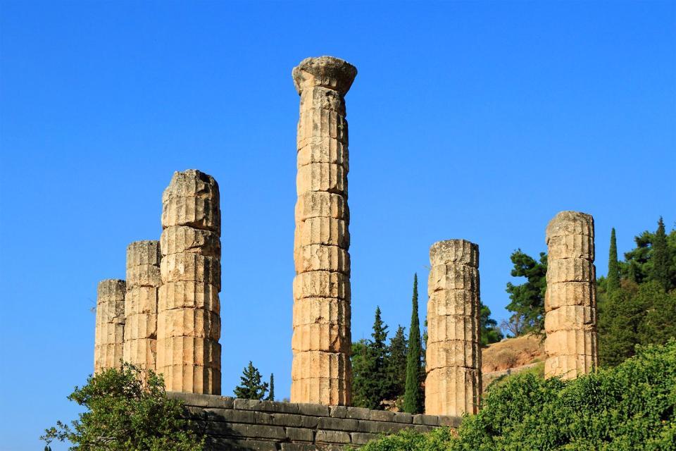 Delphi , Der Rundbau von Delphi , Griechenland