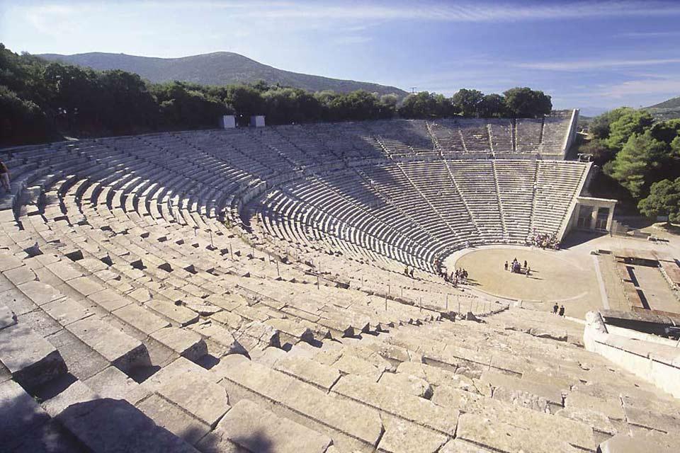 Le théâtre antique d'Epidaure , L'acoustique du théâtre , Grèce