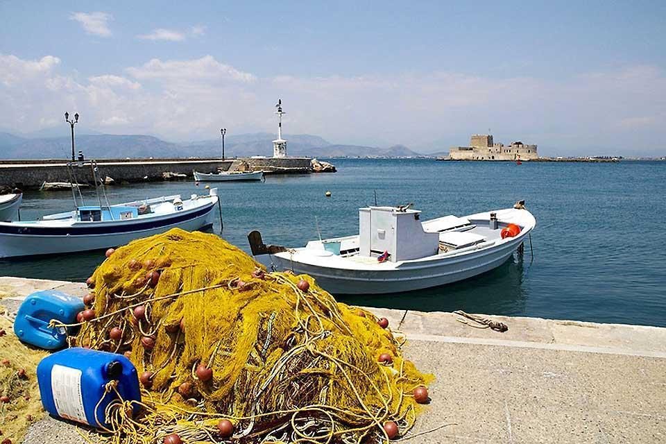 Le littoral du Péloponnèse , Grèce