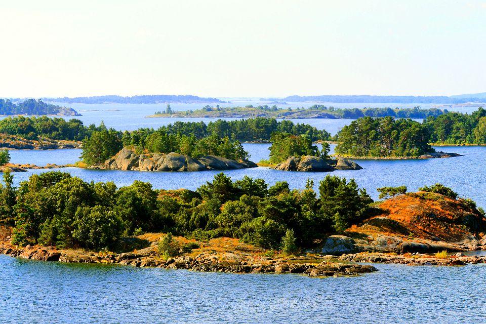 Der Archipel Åland , Die flachen Inseln des Åland-Archipels , Finnland