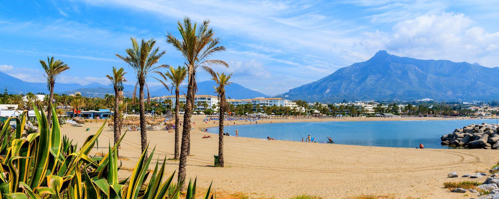 Les côtes, marbella, espagne, andalousie, costa del sol, europe, mer, méditerranée, plage