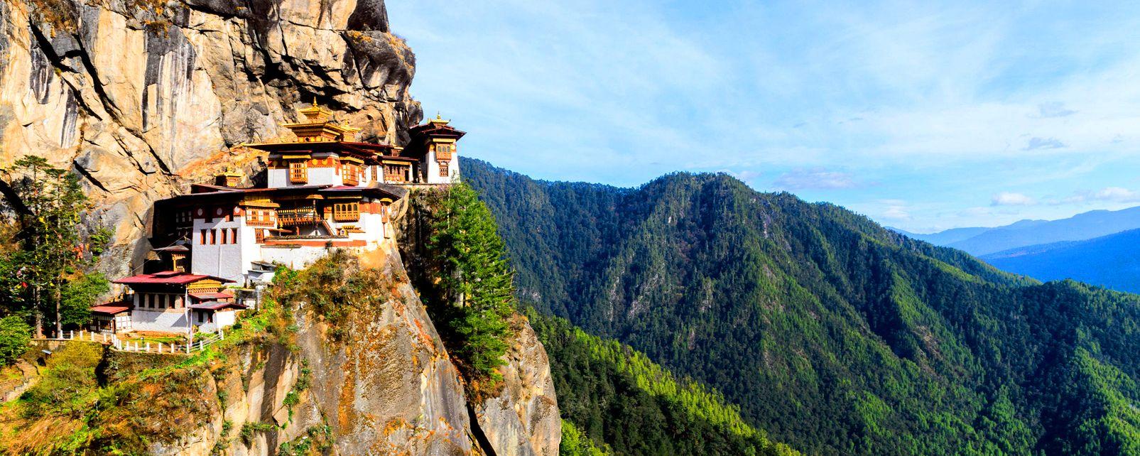 El retiro de Taktsang , El Ermitage de Taktsang , Bután