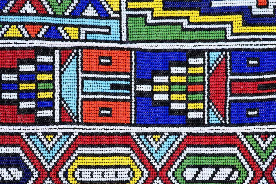 La artesanía y el arte contemporáneo , Las pinturas Ndebeles , Sudáfrica