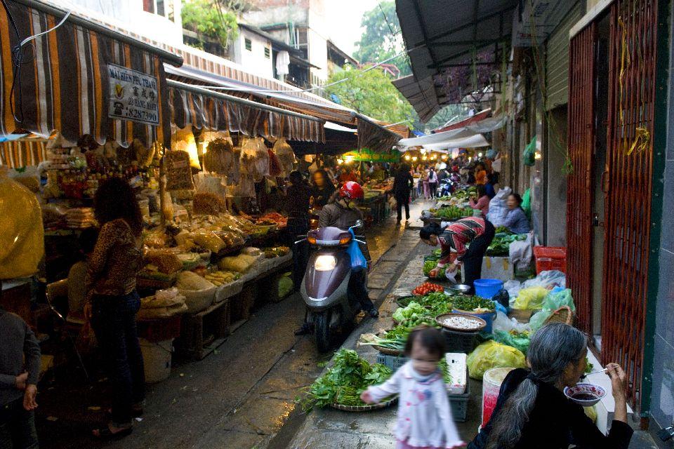 La influencia china, las marionetas , Mercados locales , Vietnam