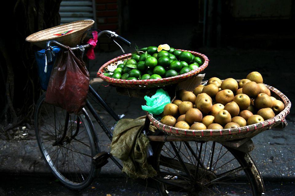 La influencia china, las marionetas , La calle comercial , Vietnam