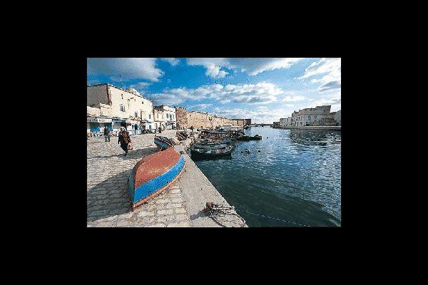 Bizerte , Der alte Hafen von Bizerta , Tunesien