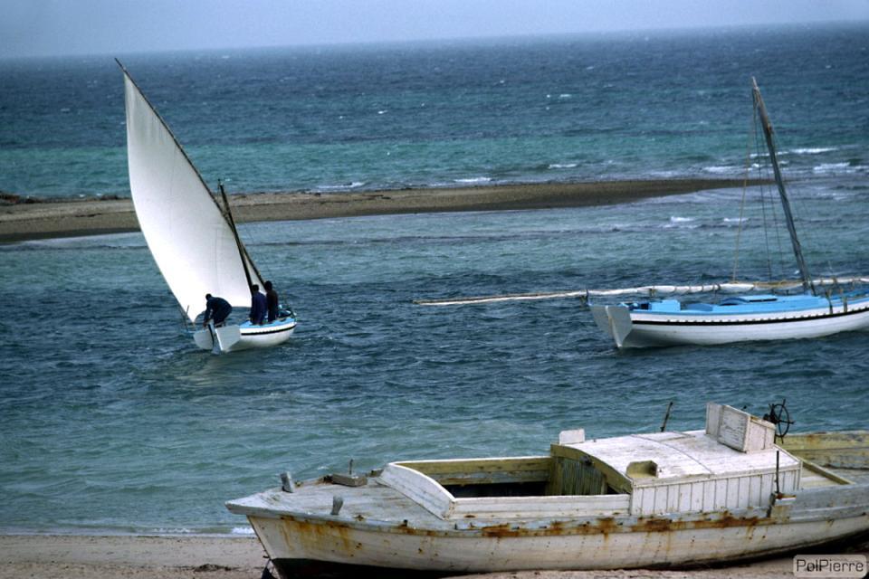 Les îles de Kerkenna , Coucher de soleil à Kerkenna , Tunisie