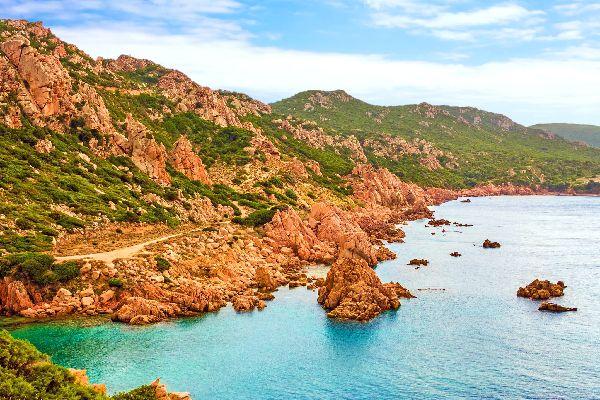 Der Golf von Asinara , Spaziergang an der Costa Paradiso , Italien