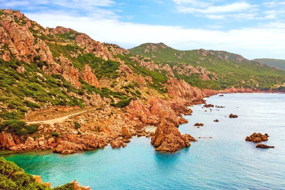 La Costa Smeralda , Paseo por la Costa Paradiso , Italia