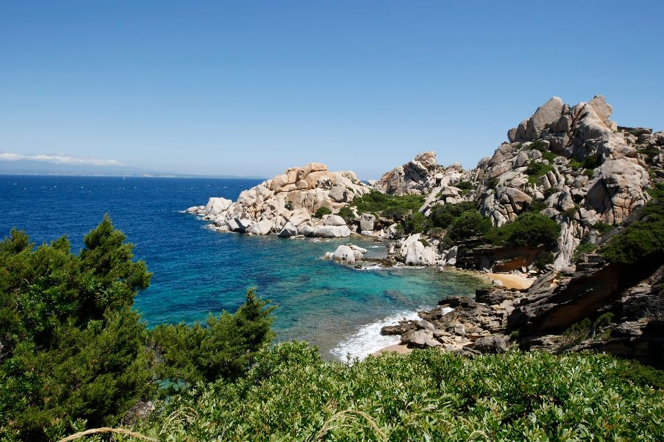 La baia di Orosei , Ottiolu e Budoni, Sardegna , Italia