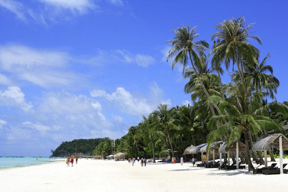 Boracay , La costa de White Beach , Filipinas