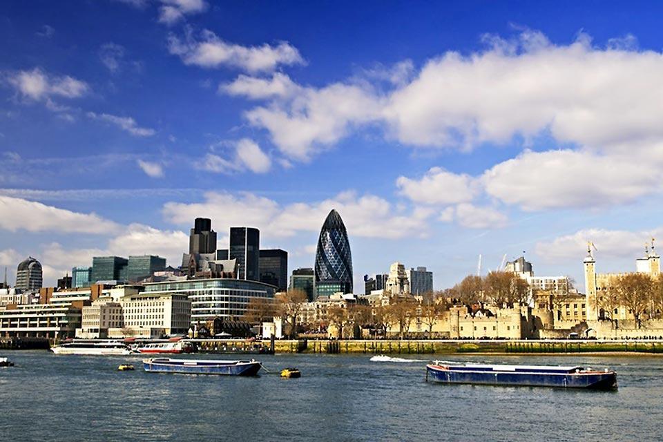 Las orillas del Támesis , Las orillas del Támesis en Londres , Reino Unido