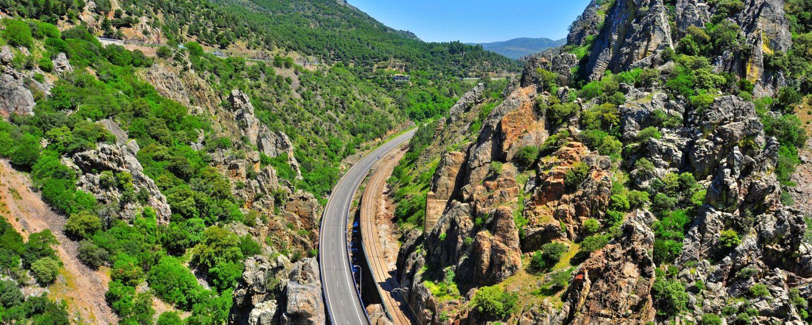 Panoramica de un pueblo blanco Andaluz, La ruta del Califato, Los paisajes, Granada, Andalucía