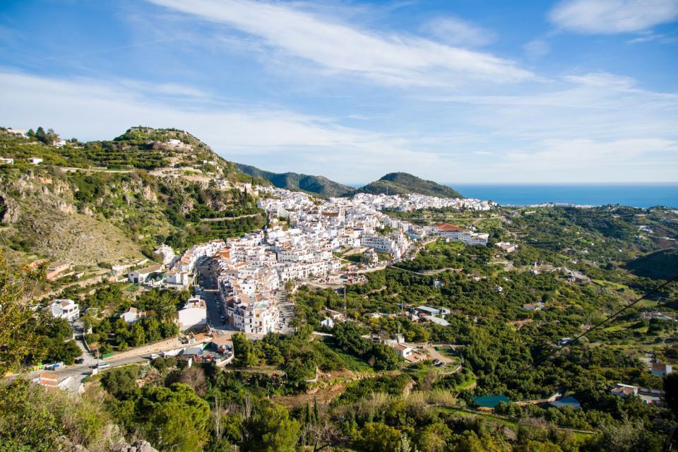 La Alpujarra , Vista de la Alpujarra , España
