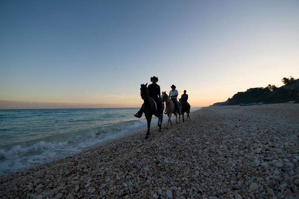 L'équitation , A caballo por la playa , República Dominicana