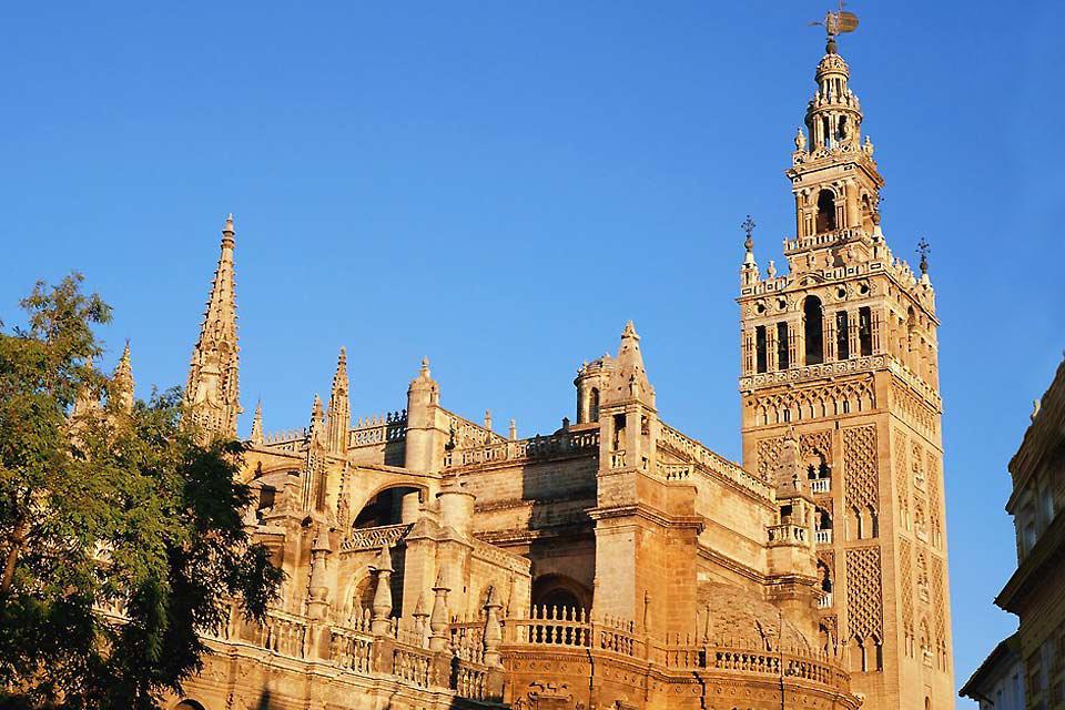 La catedral de Sevilla , Vista de la Catedral de Sevilla , España