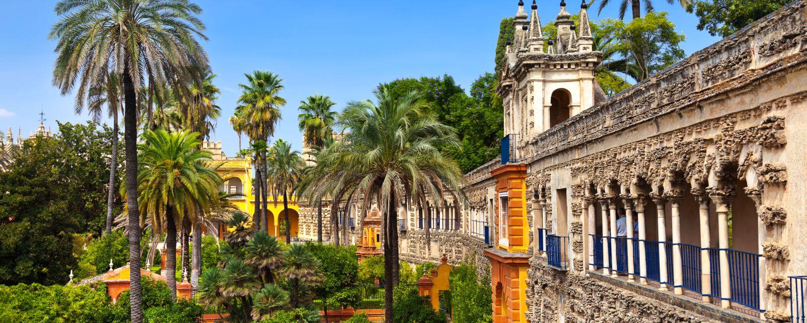 Le palais de l'Alcazar à Séville , Espagne