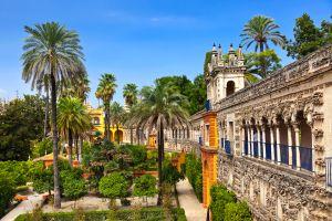 Il Palazzo dell'Alcazar a Siviglia , Il palazzo dell'Alcazar di Siviglia , Spagna