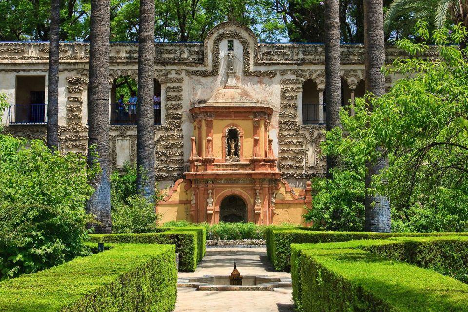 Le palais de l'Alcazar à Séville , Une partie de l'Alcázar de Séville. , Espagne