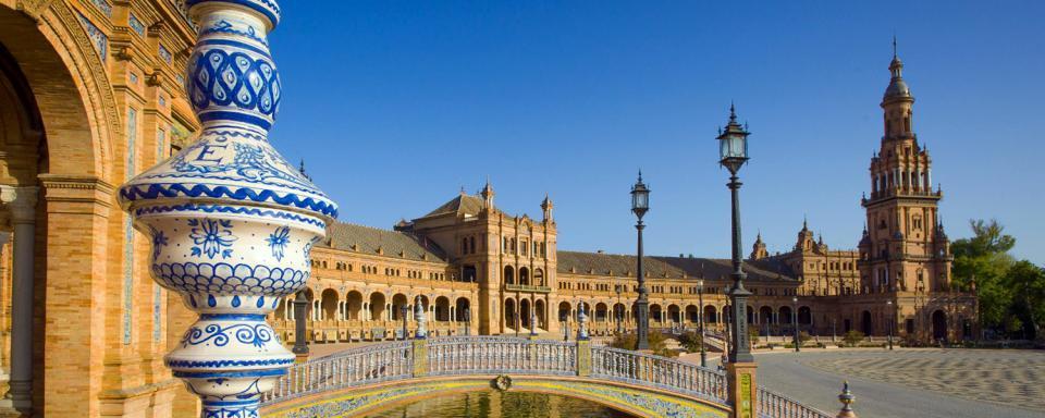 La plaza de Espa�a de Sevilla