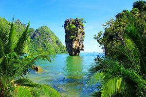 La bahía de Phang Nga , Tailandia