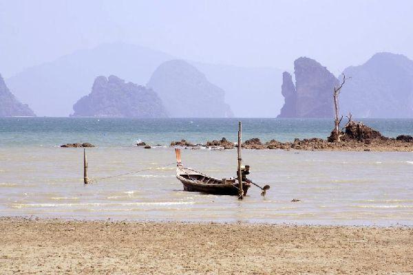La bahía de Phang Nga , Las playas de Koh Yao Noi , Tailandia