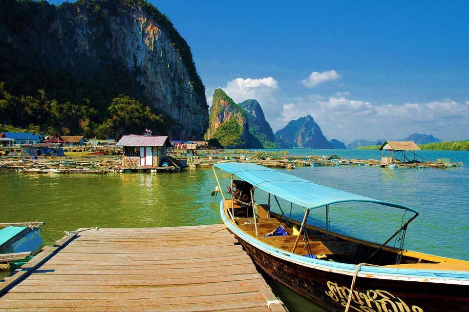 Phang Nga Bay , Koh Panyi, Thailand , Thailand
