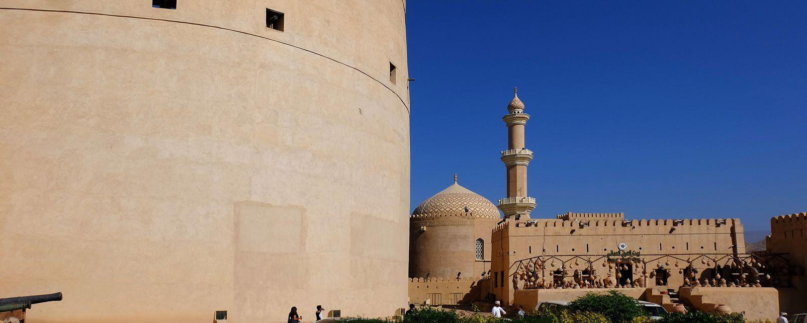 Les monuments, moyen-orient, sultanat, oman, nizwa, fort, fortification