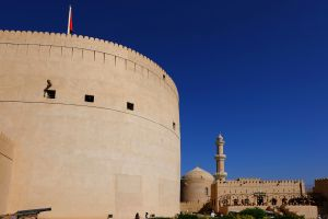 Les monuments, moyen-orient, sultanat, oman, nizwa, fort, fortification