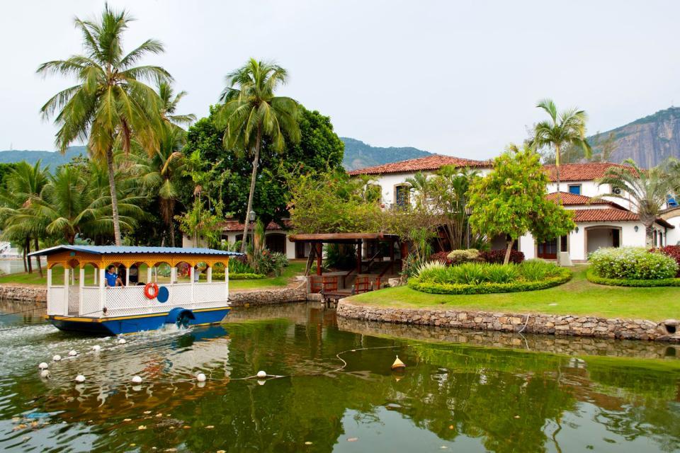Le lagoa Rodrigo de Freitas , Un lac dans la ville , Brésil