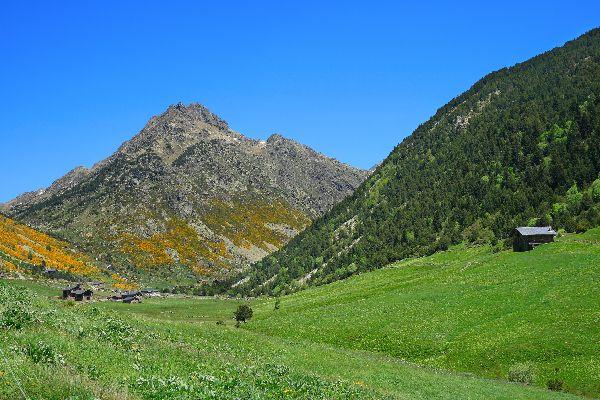 La géographie andorrane , Ein Gebirgszug , Andorra