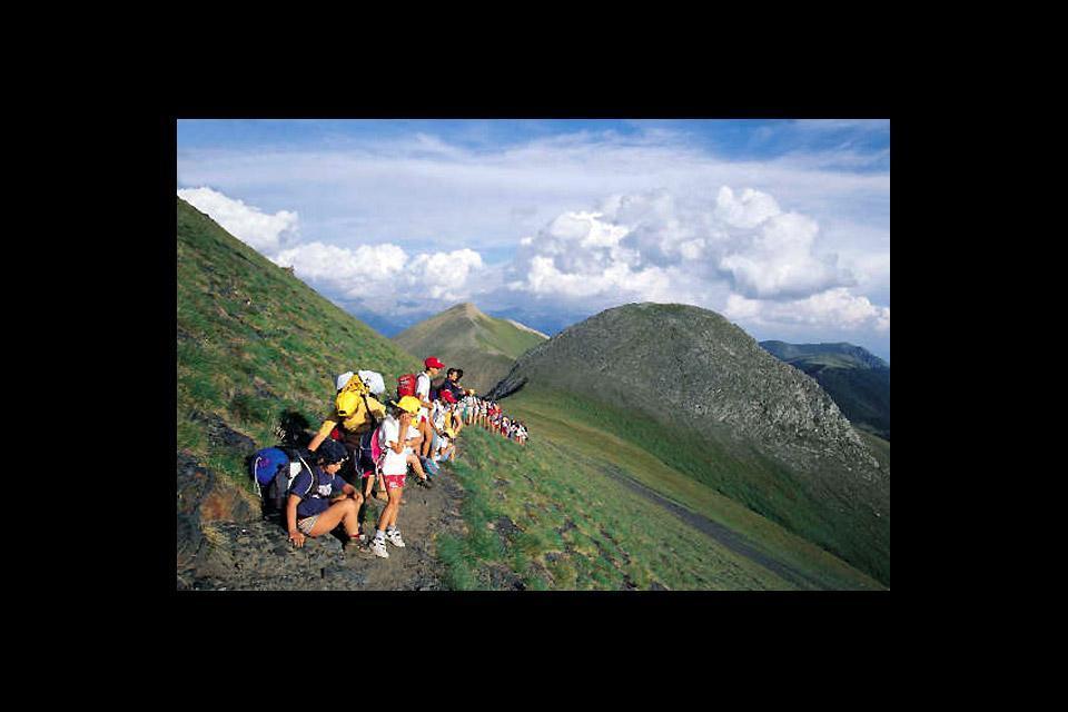 Les excursions , Des randonneurs à Andorre , Andorre