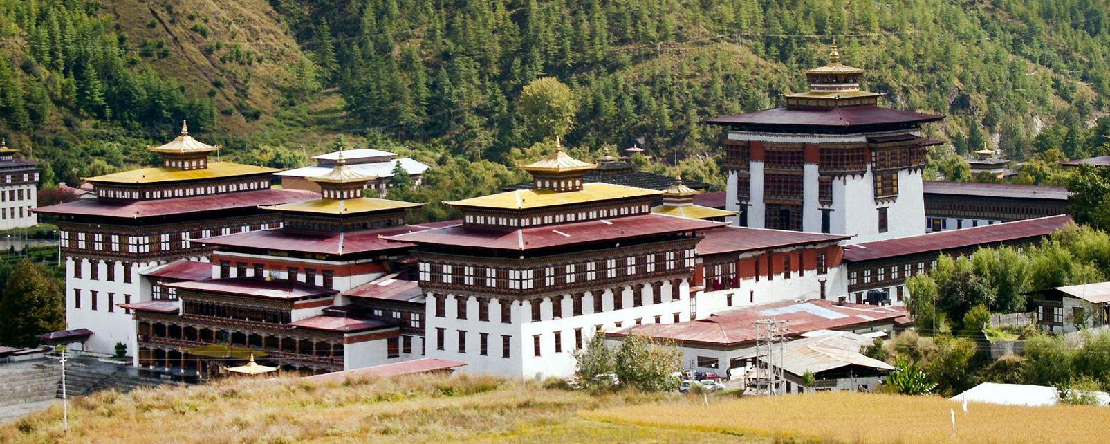 El dzong de Timbu, Bután, El dzong de Thimbu, Arquitectura religiosa, Bután
