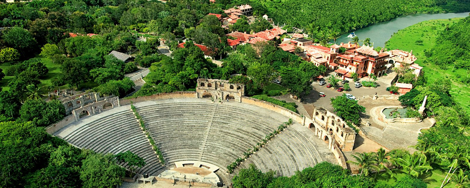 An ancient amphitheatre, Altos de Chavon, Monuments and walks, Dominican Republic
