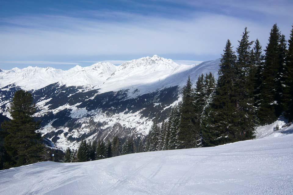 La valle di Paznaun , Paesaggio del Tirolo , Austria