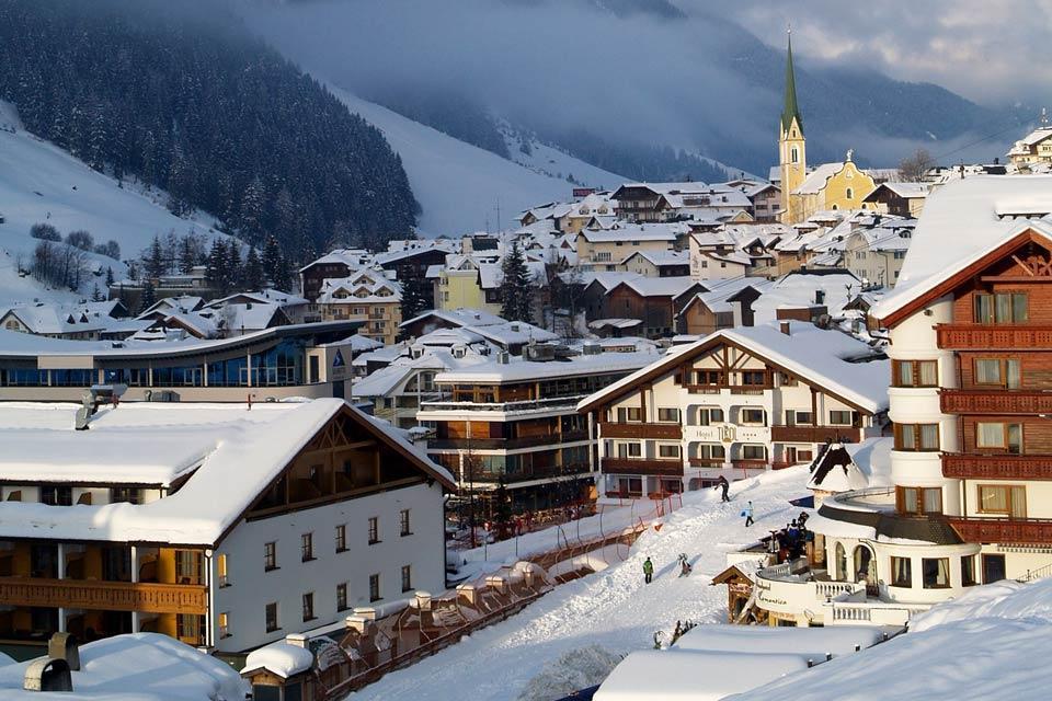 Ischgl , A mountain village , Austria