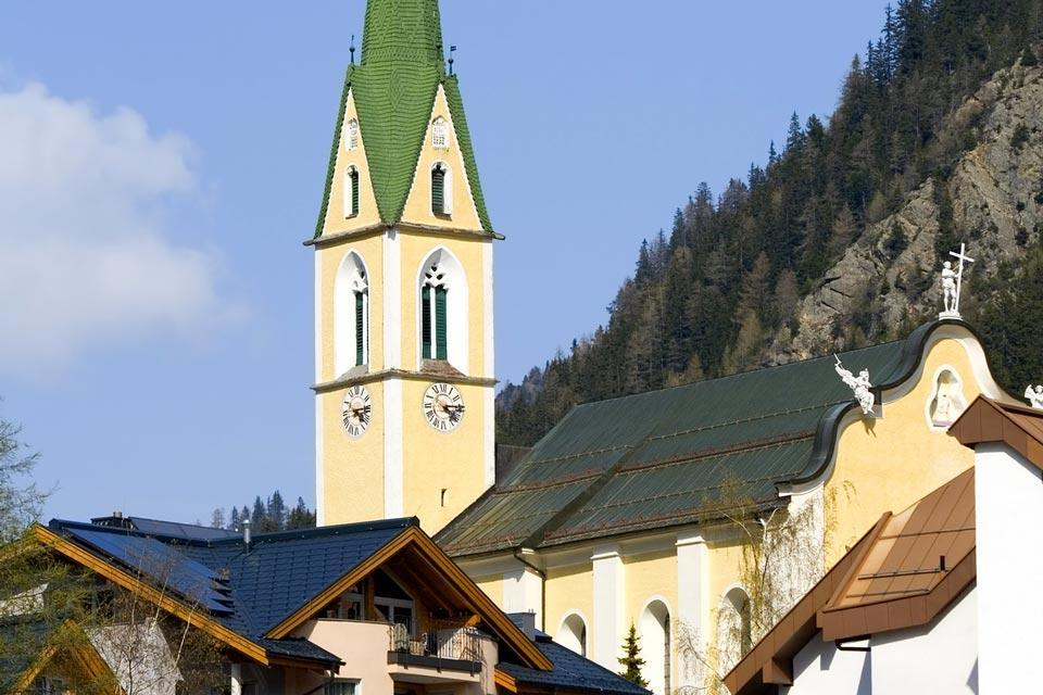 Ischgl , A church in Ischgl , Austria