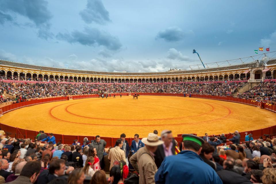 La plaza de toros de la Maestranza , España