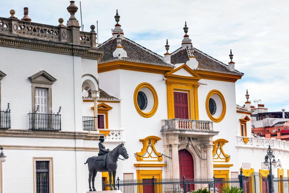 Les arènes de la Maestranza de la plaza de toros , Espagne