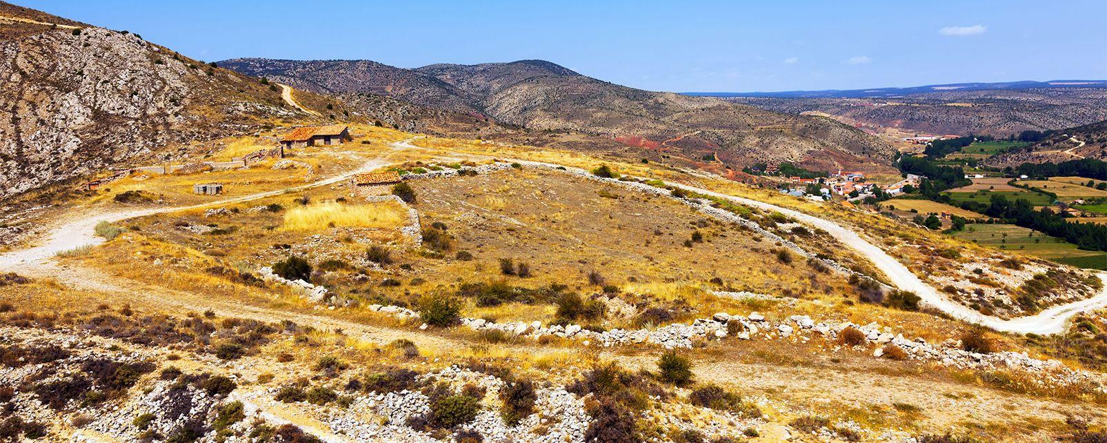 Die Wüste von Los Monegros , Spanien