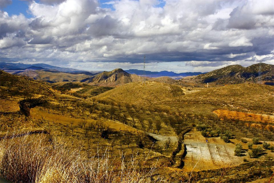 El desierto de los Monegros , España