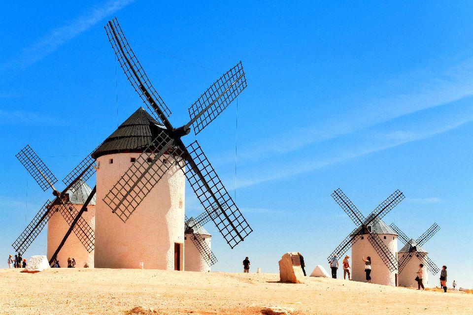 La route de Don Quichotte , Les moulins à vent , Espagne
