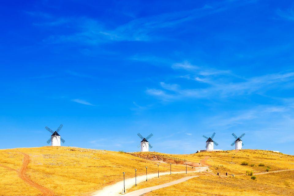 La route de Don Quichotte , Criptana , Espagne