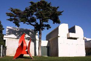 Die Fundació Joan Miró , Ansicht der Joan Miró-Stiftung , Spanien