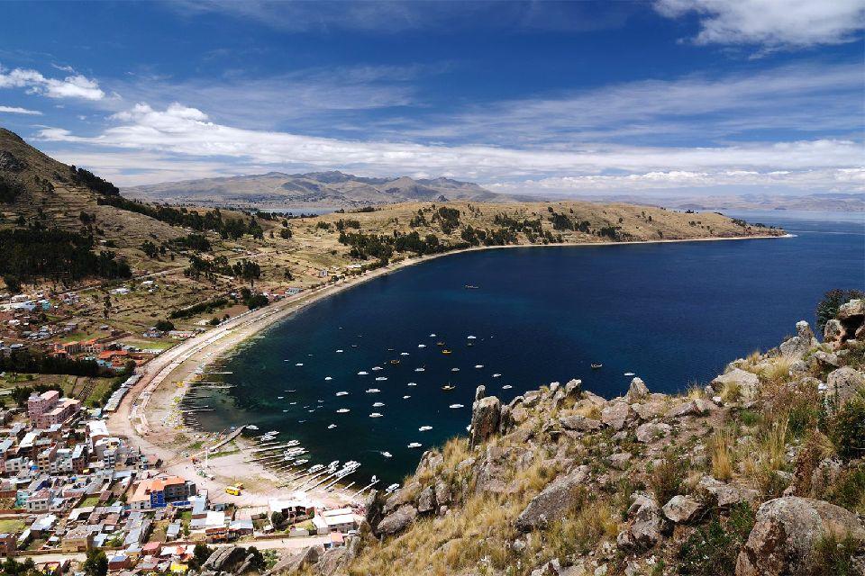Il lago Titicaca , Il Lago Titicaca , Bolivia